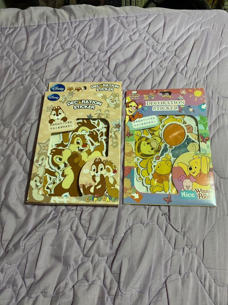 奇奇蒂蒂+小熊維尼 裝飾貼紙 原價一盒:199