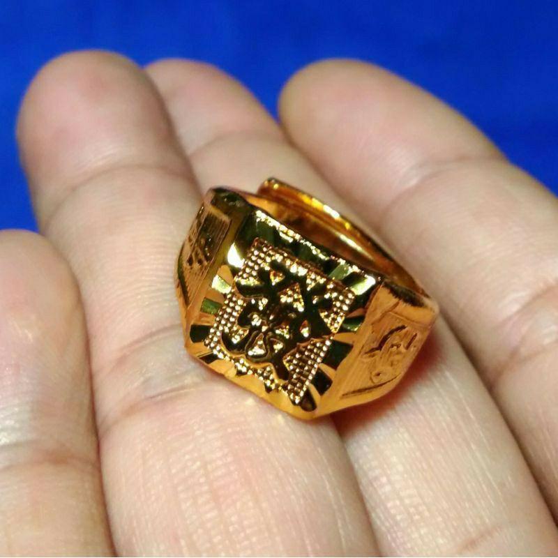 男 黃金戒指 金戒子 仿真金 裝逼 相似度99%