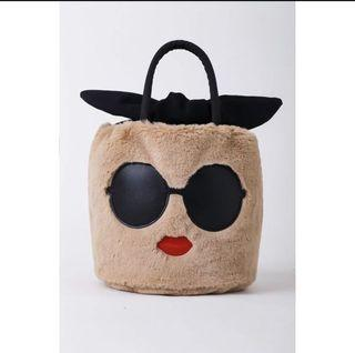 日本 a-jolie 毛絨手提包