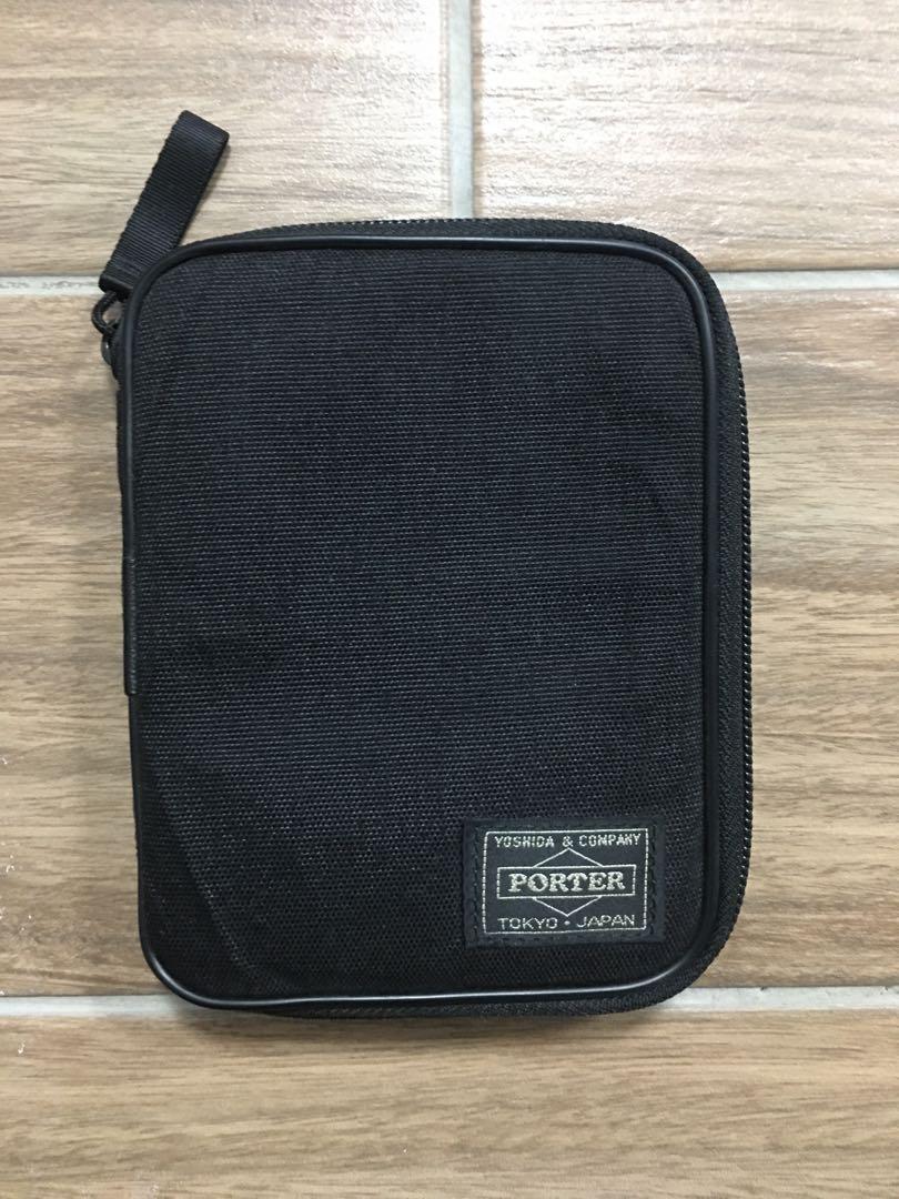 正品日本吉田包 PORTER TOKYO JAPAN 出國護照包 證件包  錢包 卡片包 背面有零錢袋可收納零錢