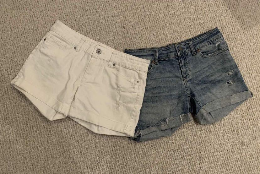 Aeropostale Denim Shorts (2 pairs)