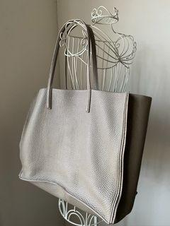 Auxiliary Leather Tote Bag