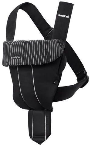 BabyBjorn baby carier black stripes