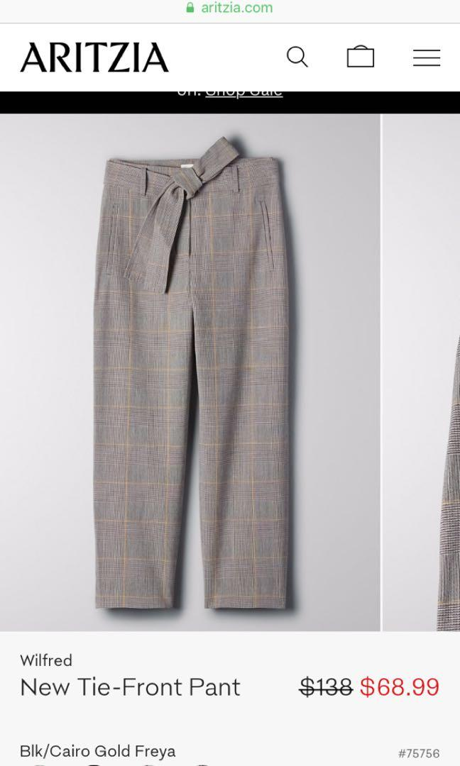 BNWT Wilfred Tie front/jallade pant