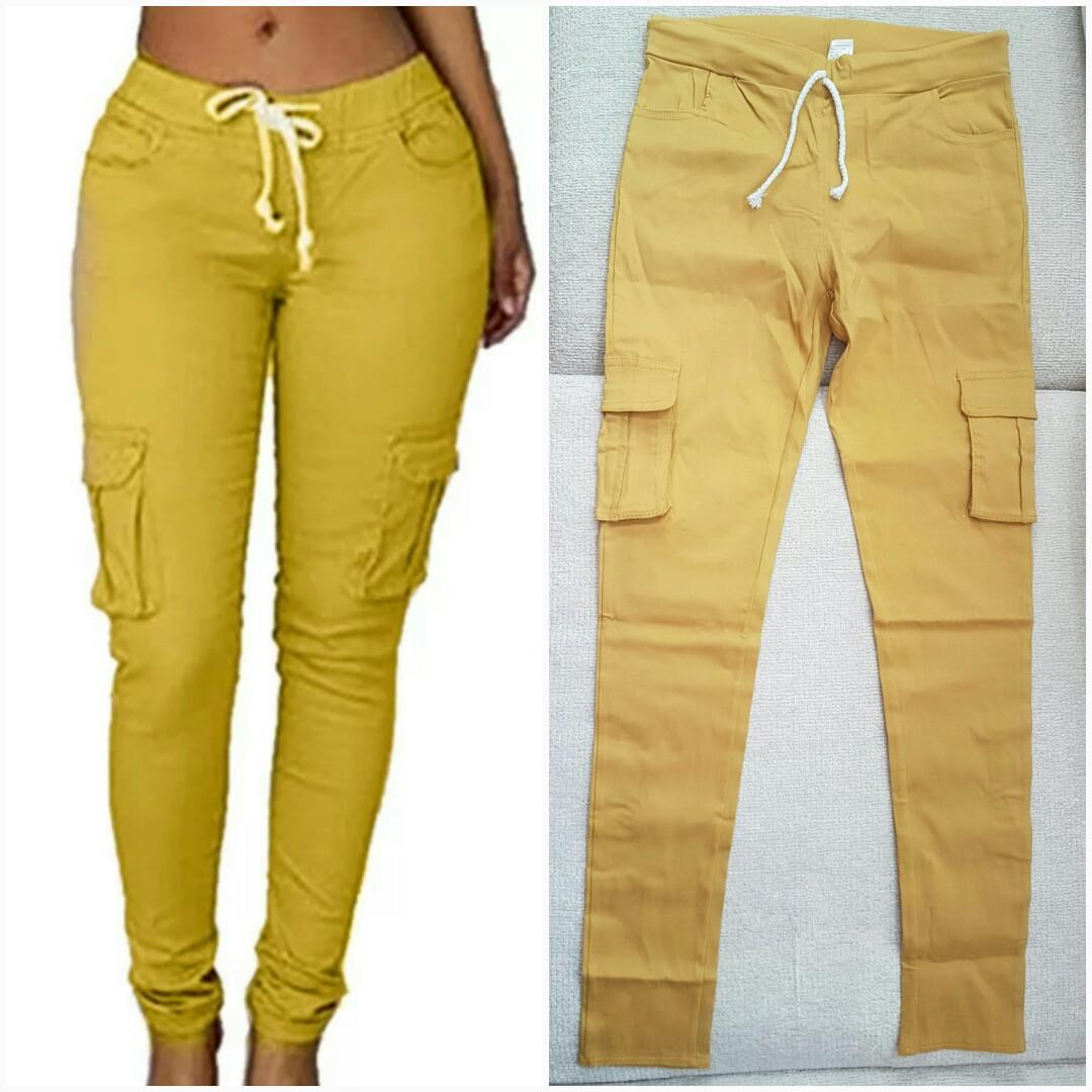 Brand New Golden Yellow Cargo Joggers