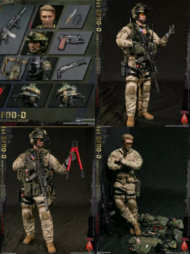 in stock damtoys 1 6 dam78077 1st sfod d combat applications group cag team leader collectible action figure