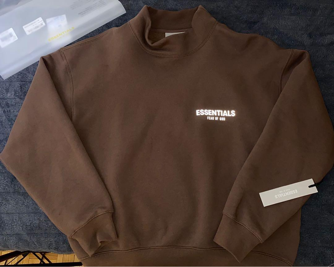Essentials Fear Of God Exclusive Brown Mock Neck Sweater Size XS