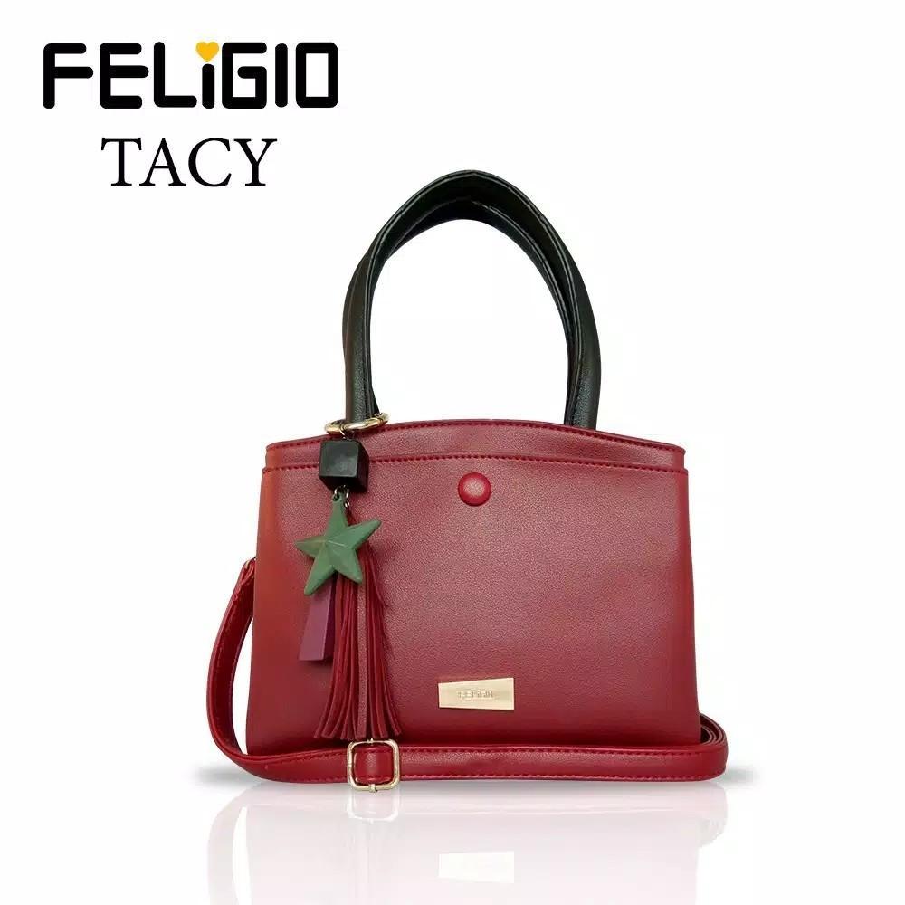 Feligio Tacy Handbag - Red