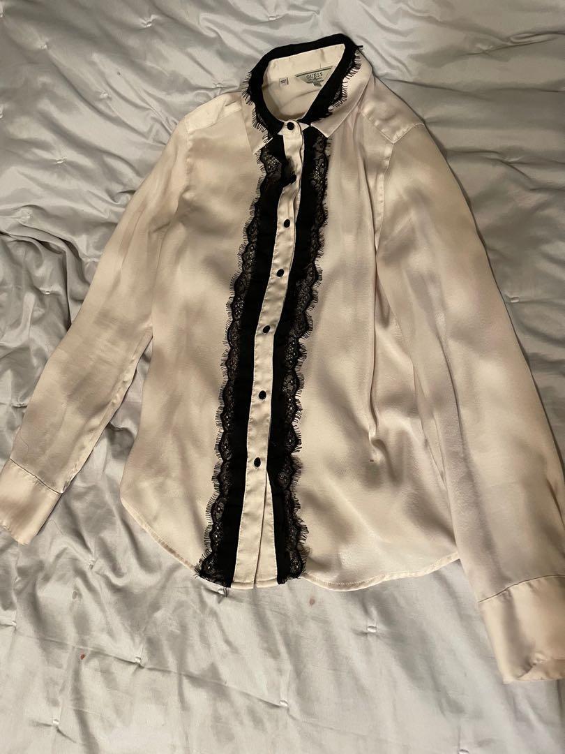Guess ruffle blouse