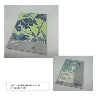 IKEA KORT Postcard DESIGN ZOE BADGER (5 pcs)