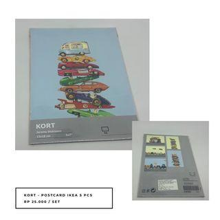 IKEA KORT Postcard JEREMY DICKINSON (5 pcs)