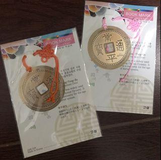 Korean Souvenir Ancient Coin Bookmarks #Korean#bookmarks