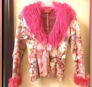Lapin Collar Jacket 桃紅兔毛領短褸