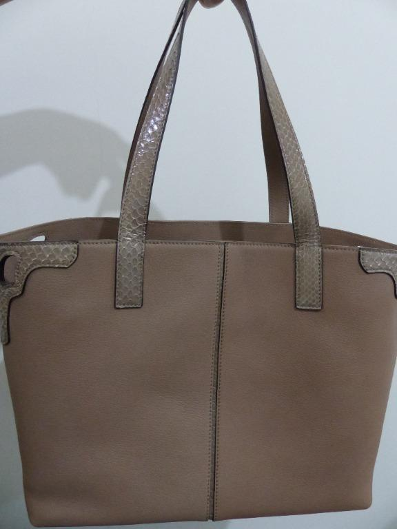 New authentic Cartier Marcello tote bag (Calfskin +Snake skin leather)