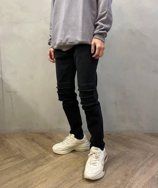 【new clothing】🇰🇷韓國 HS機車牛仔褲