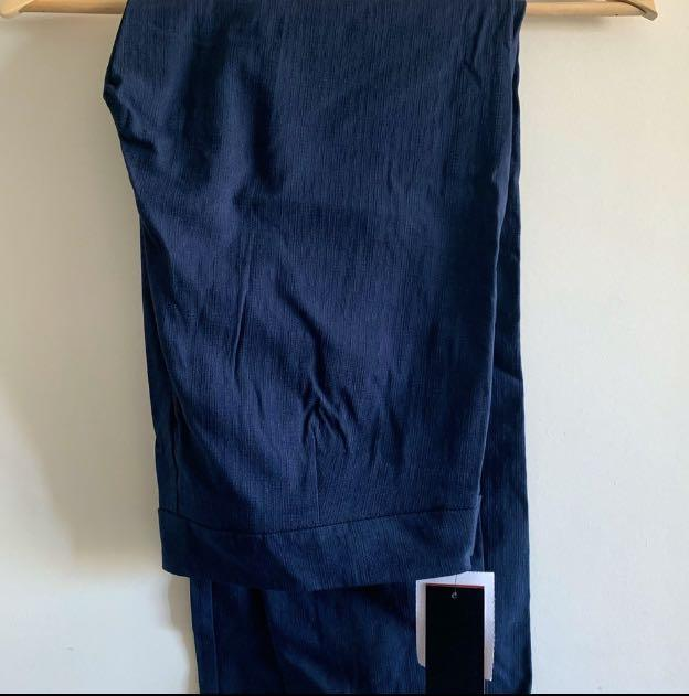 New, with tags Blue straight ankle pants with tags, size 12