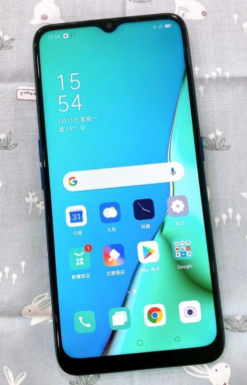OPPO A5(2020) 4G+64G 6.5吋 湖光綠 #保固中 #二手機 #勝利店 95557