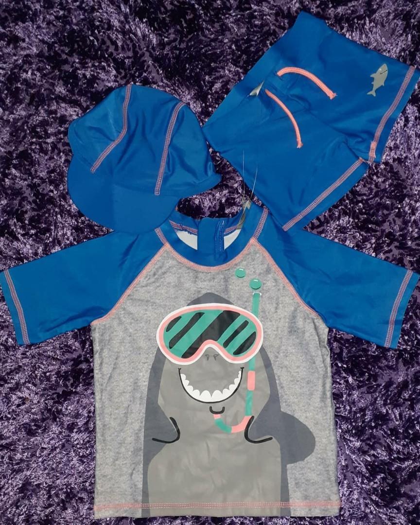 Original Primark Baby Swimwear Set Baju Renang, Celana, Topi