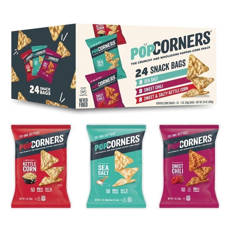 Popcorners 爆米花脆片多寶箱 28公克24包 好市多代購 Costco