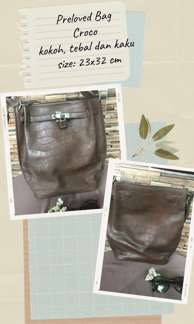 Preloved Bag Croco