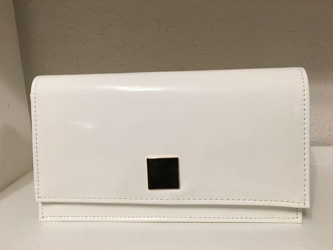 Shiny White purse