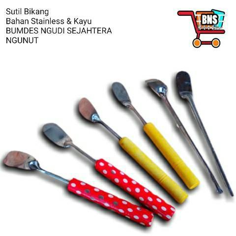 Spatula/ Sutil Kue/Sutil Bikang /Sutil Apem (Kayu Polos)