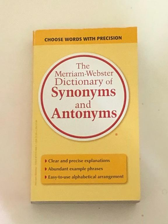 Dictionary of Synonyms and Antonyms (expanding vocabulary)