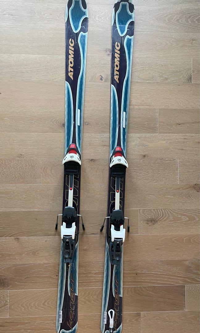 Touring ski set with new skins