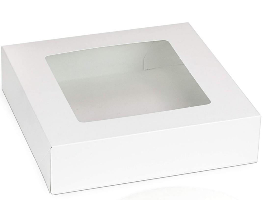 Treats/Brownies/Pie Box (white with window)