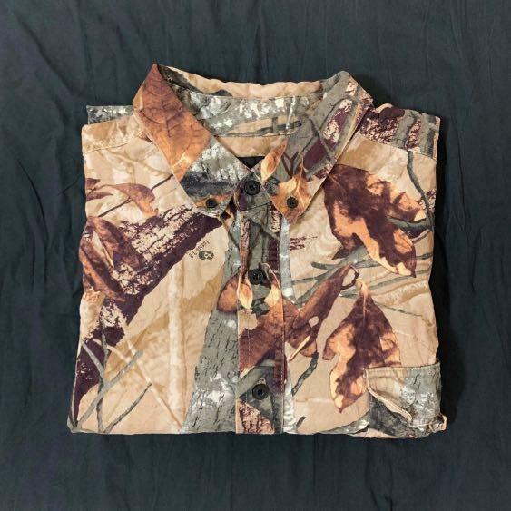 Vintage 古著。長袖襯衫 圖騰襯衫