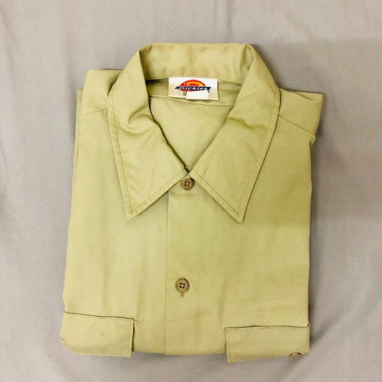 Vintage 古著。Dickies工裝 長袖襯衫
