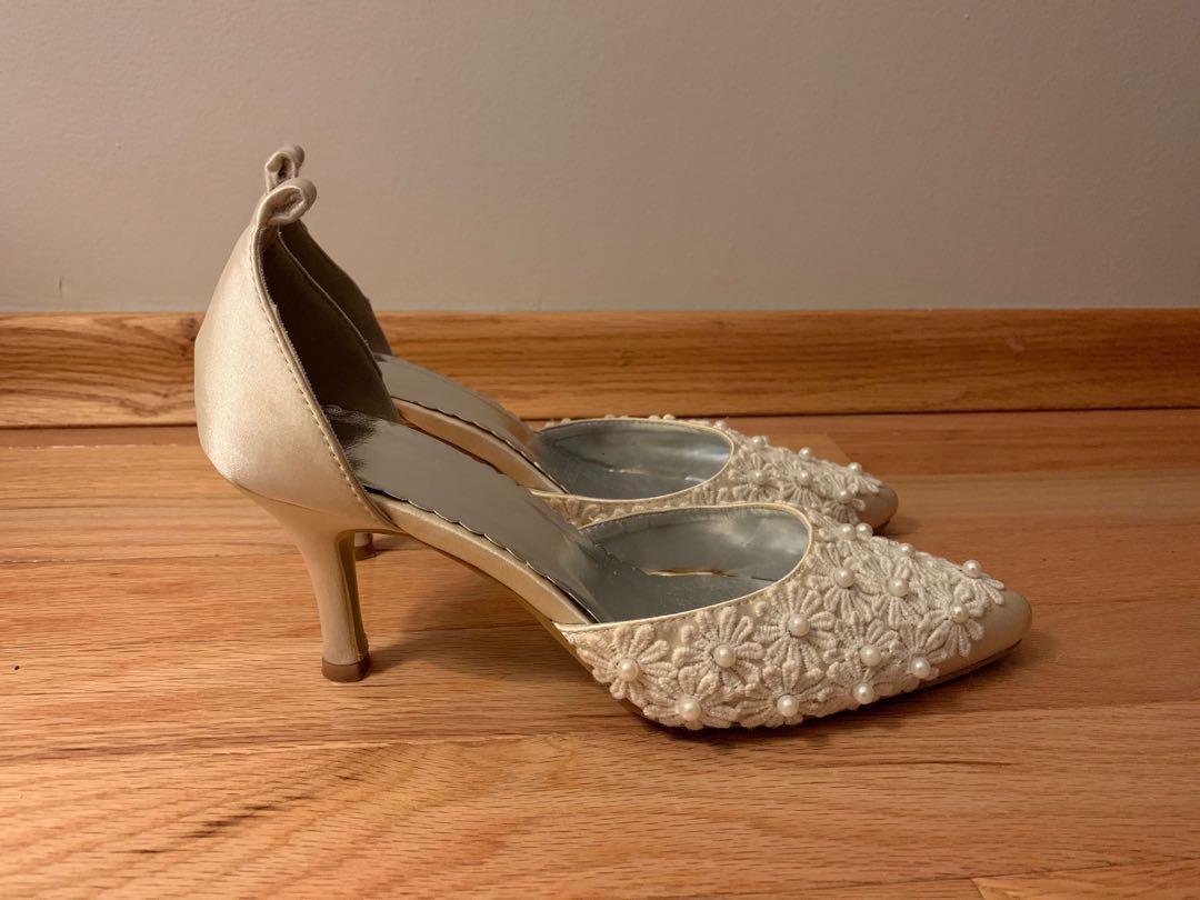 White Heels - Size 7