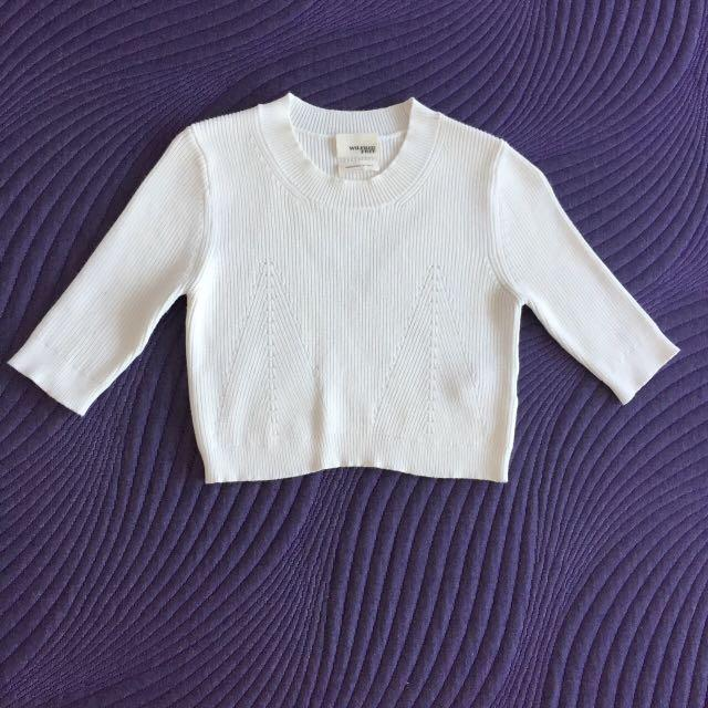 Wilfred free white cropped knit