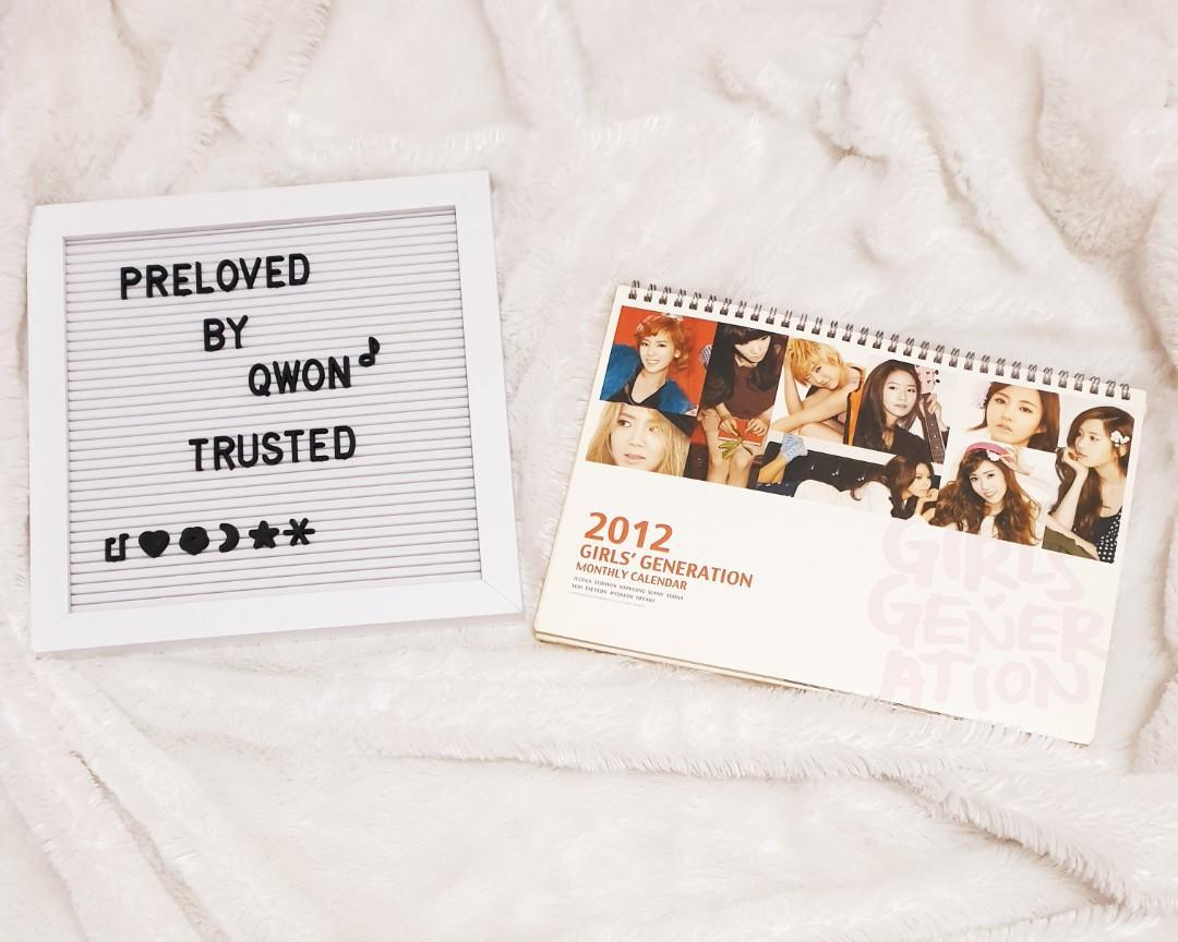 2012 Girls' Generation Monthly Calender/kalender#snsd#girlsgeneration#preloved