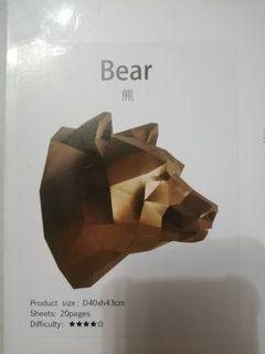 3d Bear ENO Objects Paper Craft