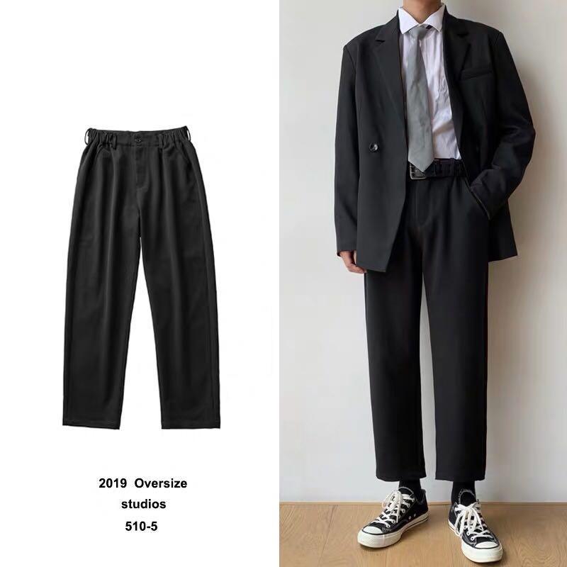 全新韓版直筒西裝褲