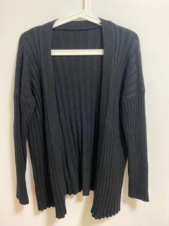 厚款黑色針織外套