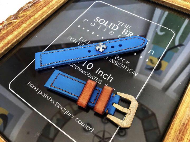 純手工 私人訂製 純牛皮高級錶帶20mm