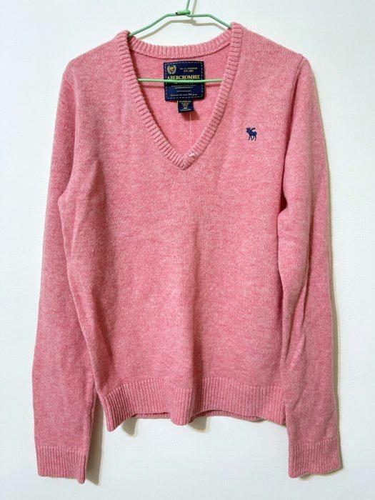 [美國自購現貨] Abercrombie & Fitch 針織衫 AF 毛衣 麋鹿 V領 上衣 保暖 羊毛