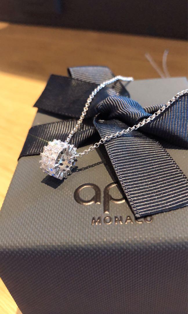 🔥限時特惠🔥APM 純銀項鍊現貨  香港代購 apm Monaco 鑲鑽項鍊
