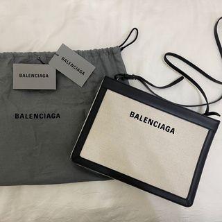Balenciaga巴黎世家navy pochette 帆布協背包