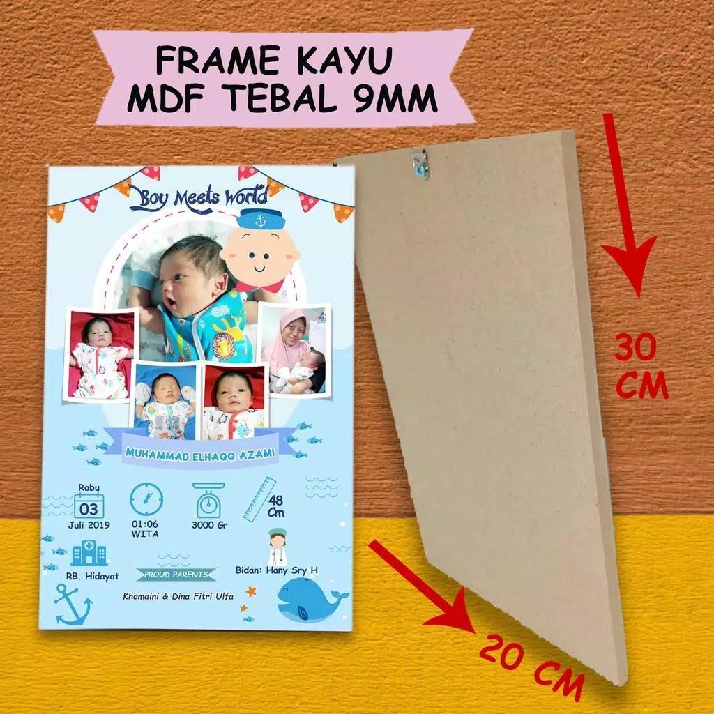 Biodata bayi frame kayu