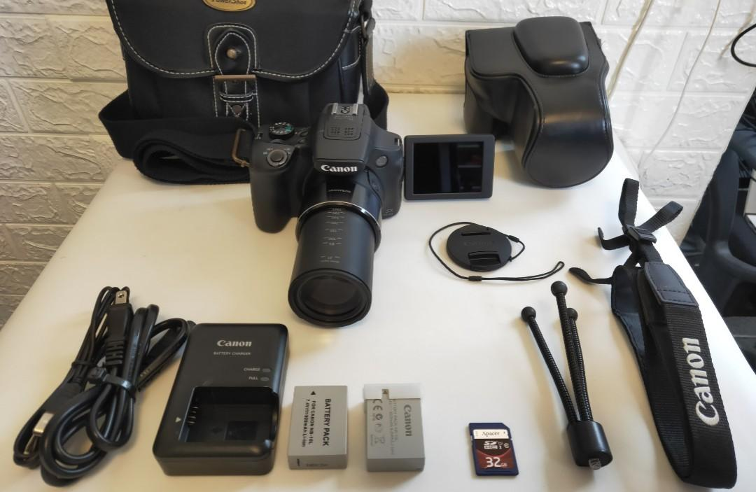CANON SX60IS(260X ZOOM), WI-FI CONNECT,SD CARD 32GB,+ALL
