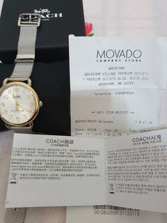 COACH同款夏利豪馬車米蘭錶#movado