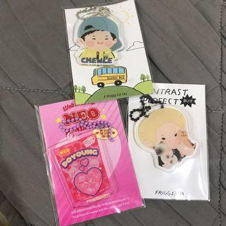 nct doyoung, ten, chenle keyring