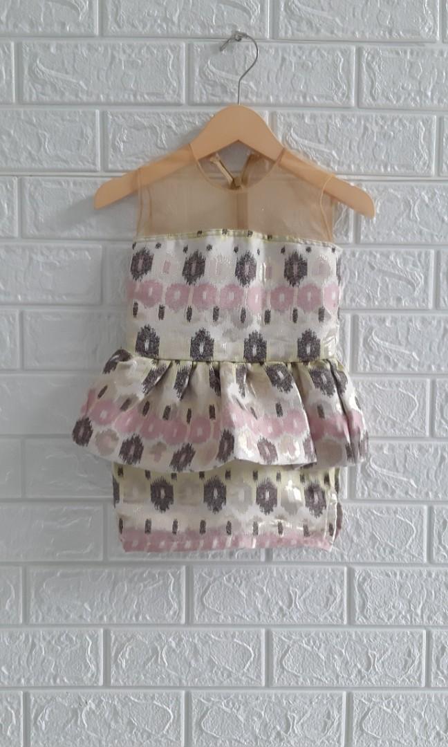 Dress songket anak