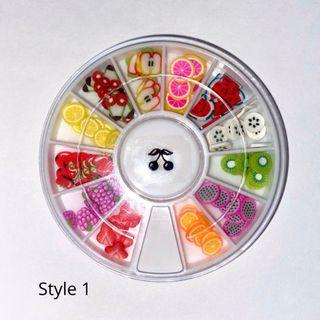 Fimo fruit slices (for nails etc)