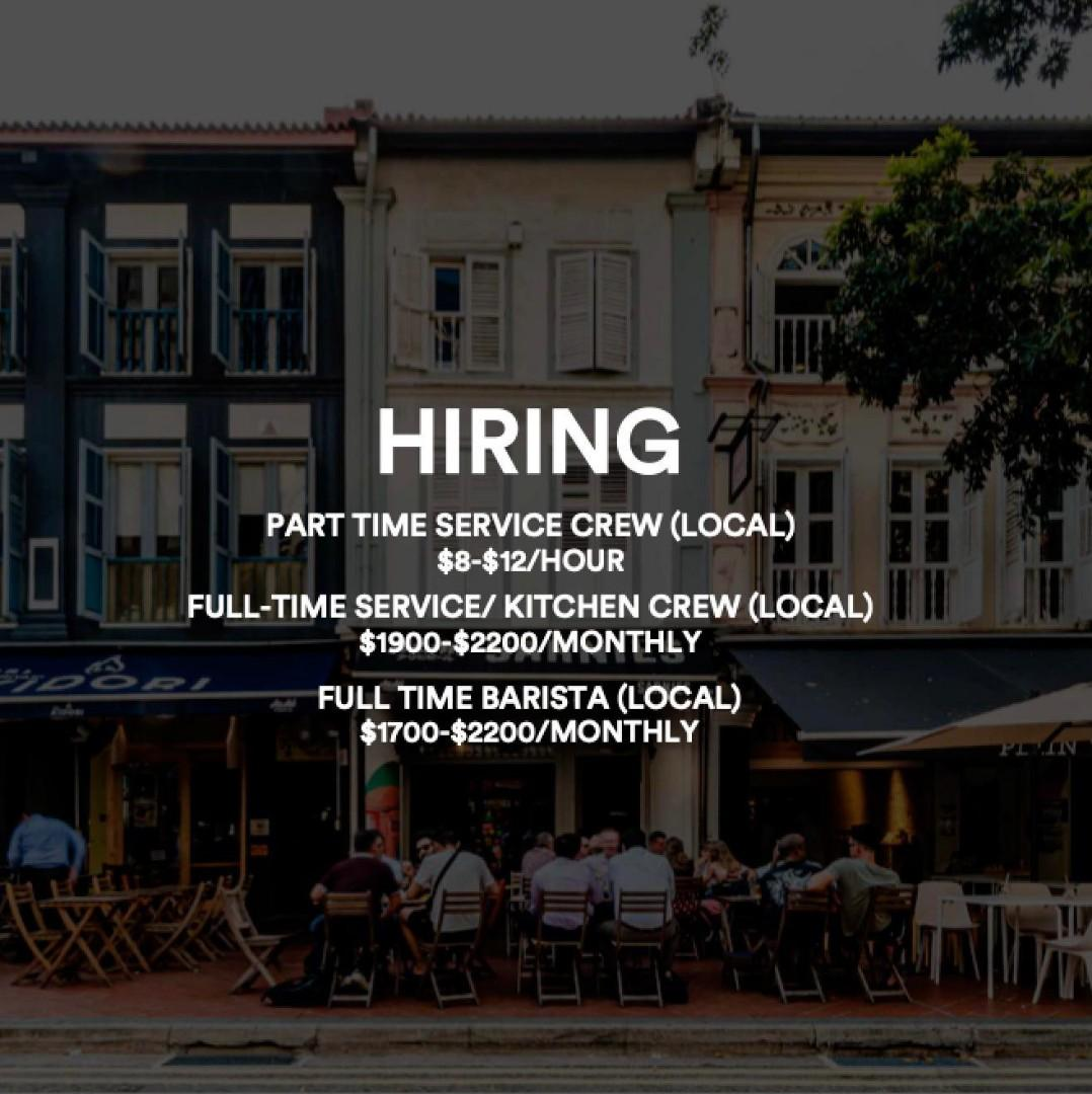 Full time / Part time service crew / Barista