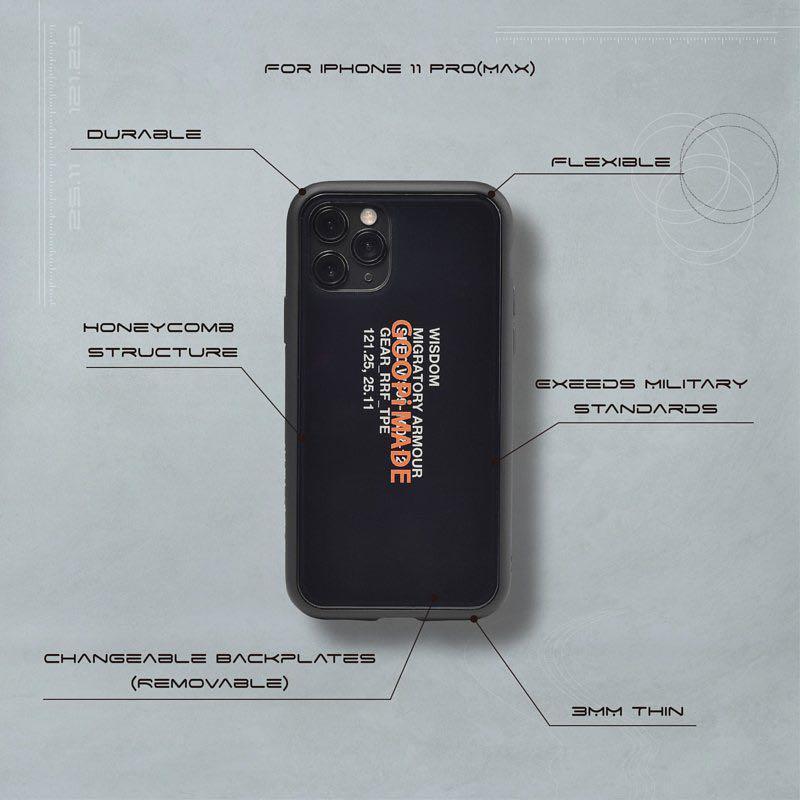 GOOPiMADE 孤僻手機殼 iPhone 11 Pro 黑色 GL-00 Multi-use NX iPhone case WISDOM聯名 goopi
