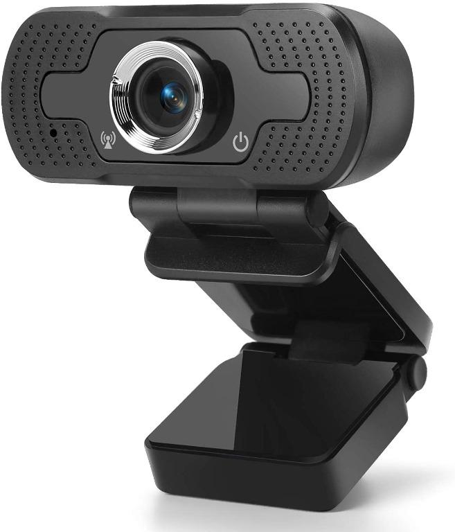 Red black 1080P Lushforest Webcam with Microphone USB PC Webcam Gaming Gaming Computer Camera for Live Streaming Calling and Conferencing